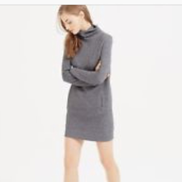 Lou & Grey Dresses & Skirts - Lou & Grey Gray Turtleneck Sweatshirt Mini Dress S